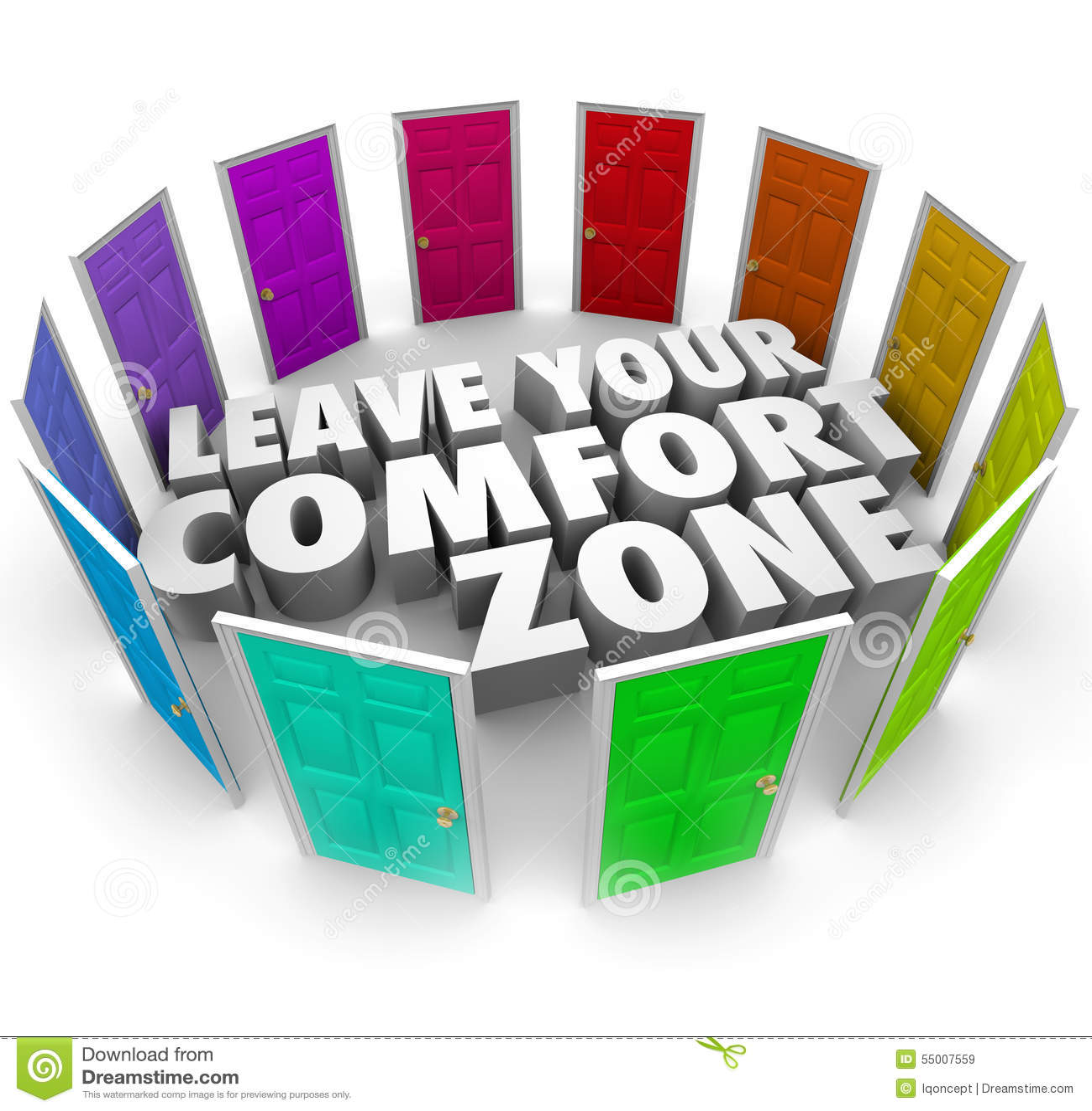 Deixe a suas portas da zona de conforto oportunidades novas