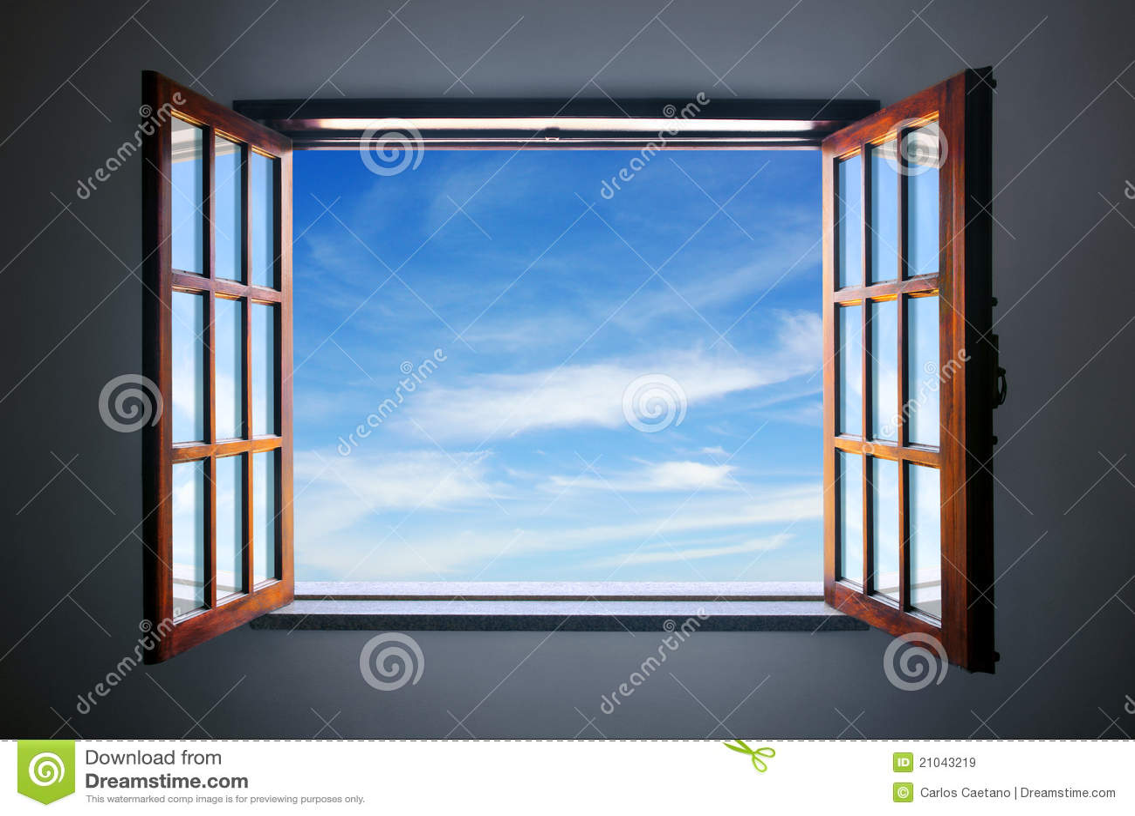 Deje el cielo azul adentro