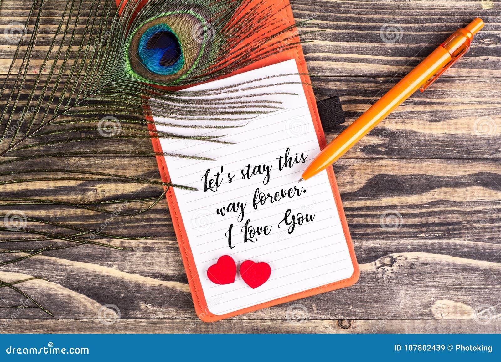 Deje la estancia del ` s esta manera para siempre te quiero