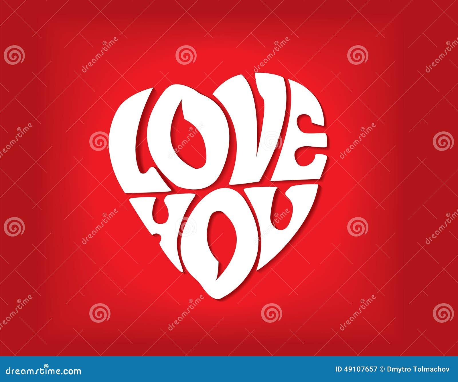 Deklaracja miłość w postaci serca