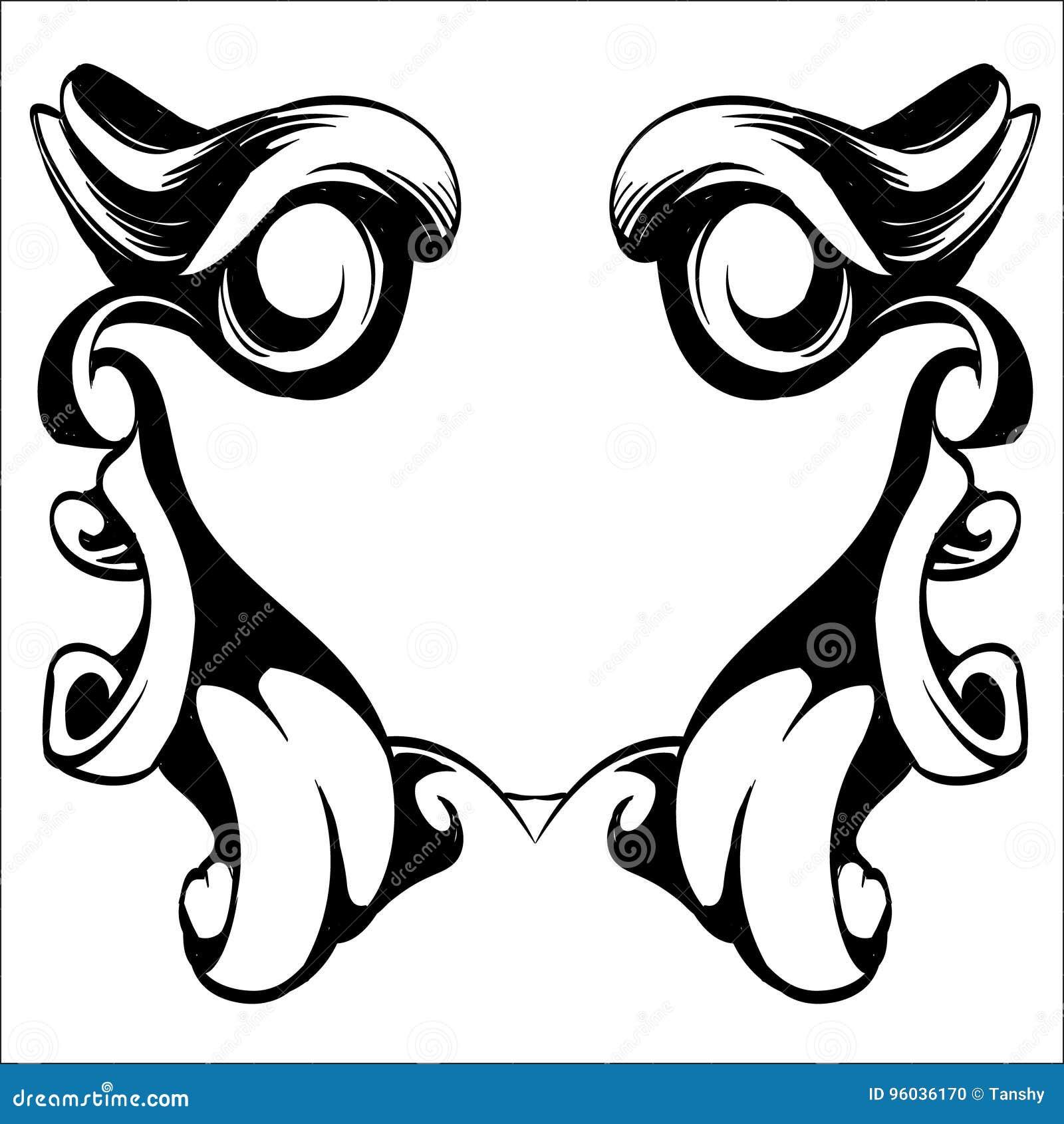 Dekoracyjni elementy w roczniku projektują dla dekoracja układu, fram