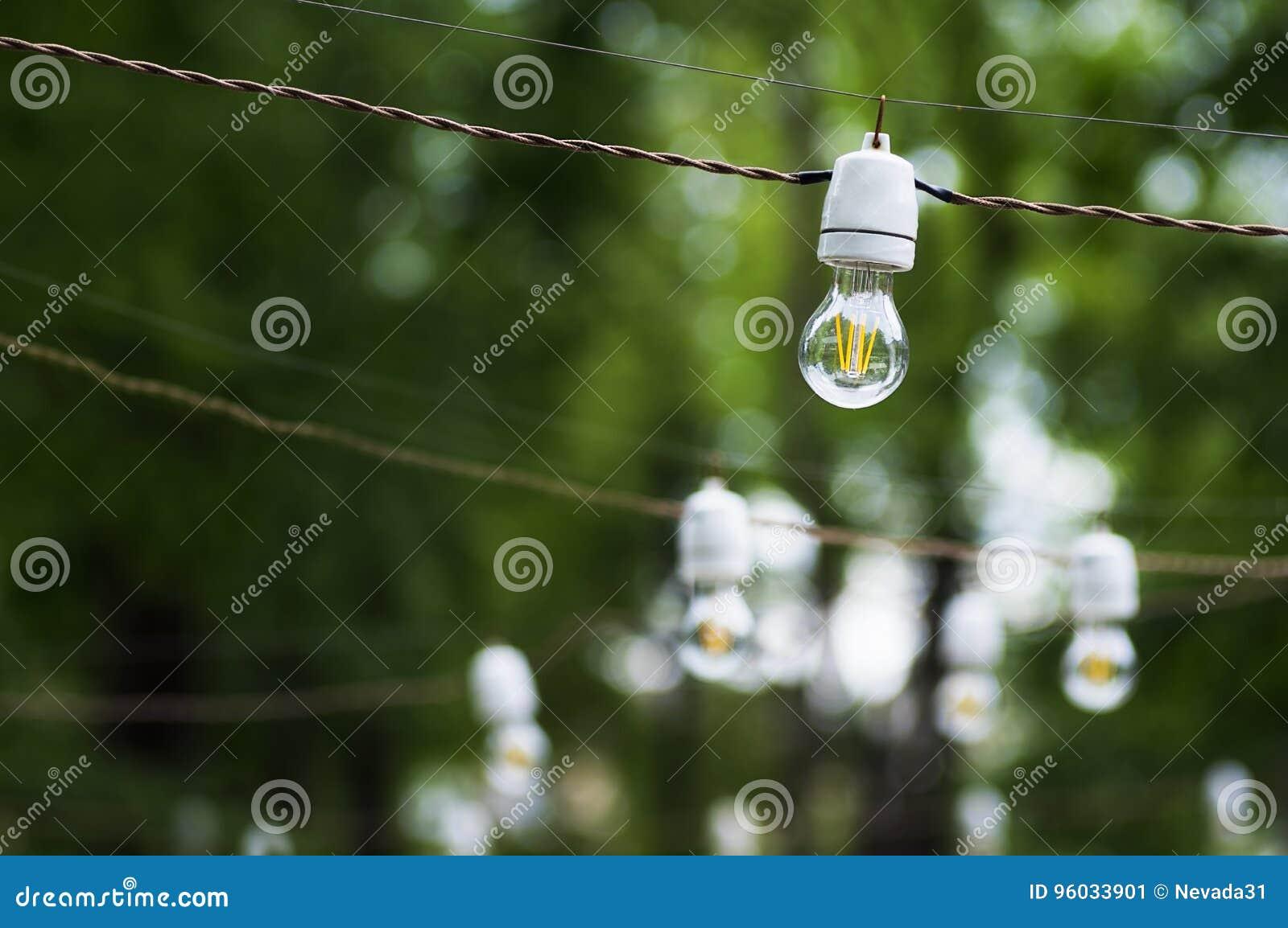 Dekoracyjni plenerowi sznurków światła
