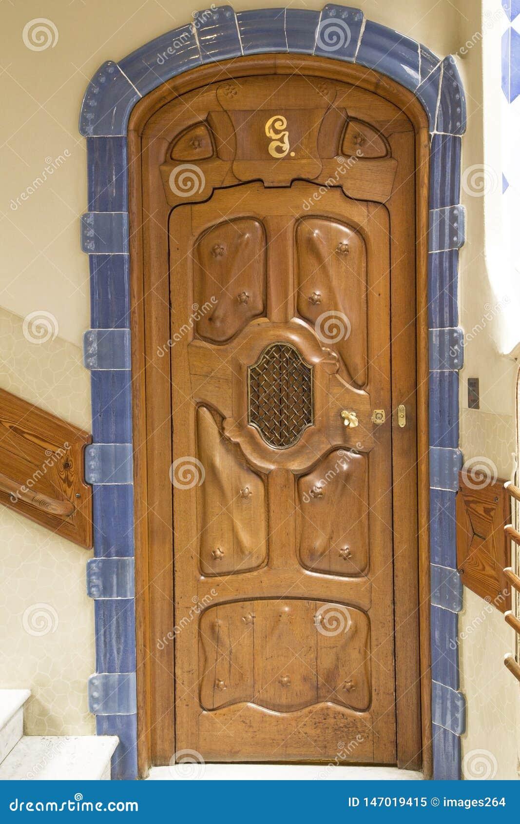 Dekoracyjny drzwi w Casa Batllo
