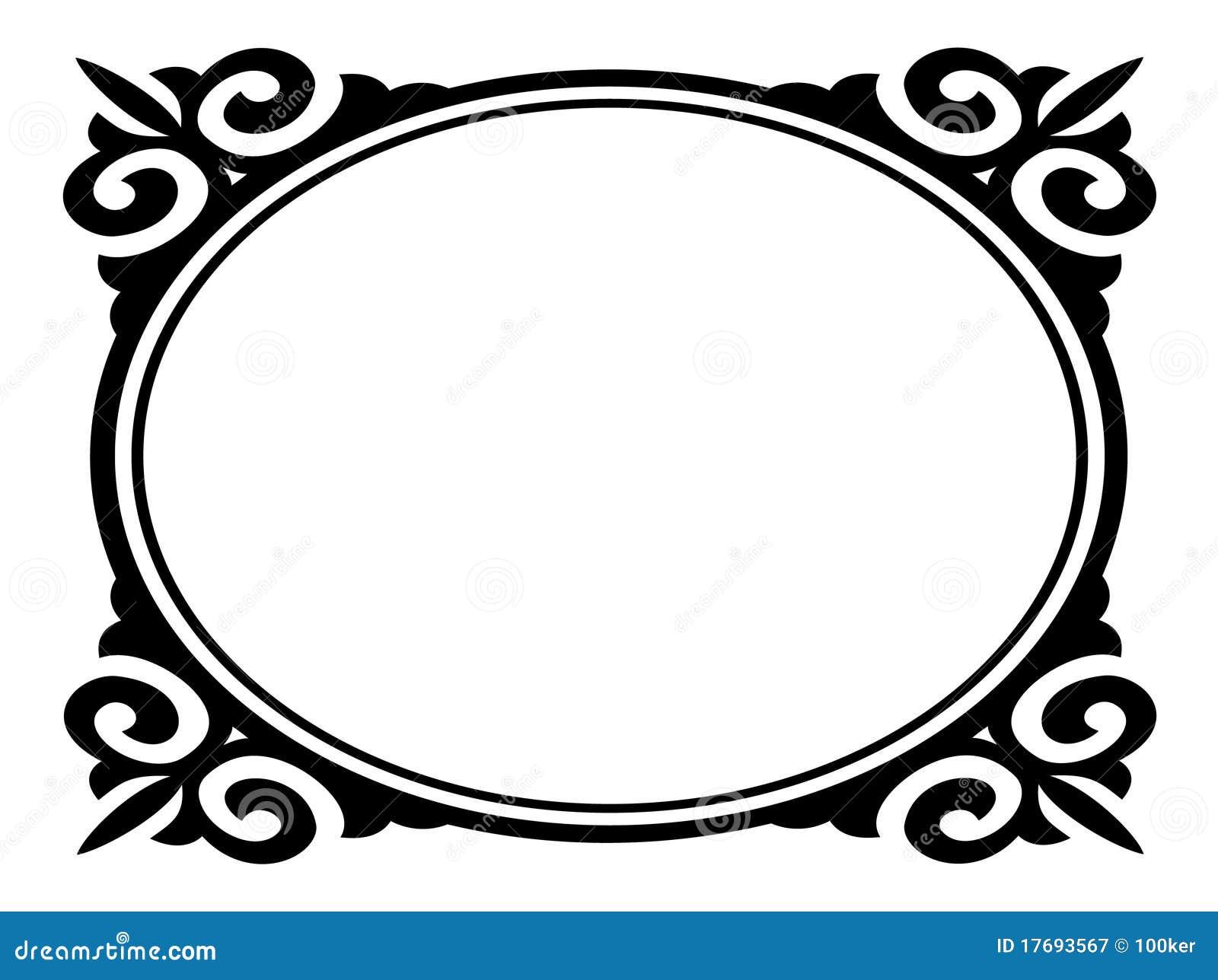 Dekoracyjny ramowy ornamentacyjny owal