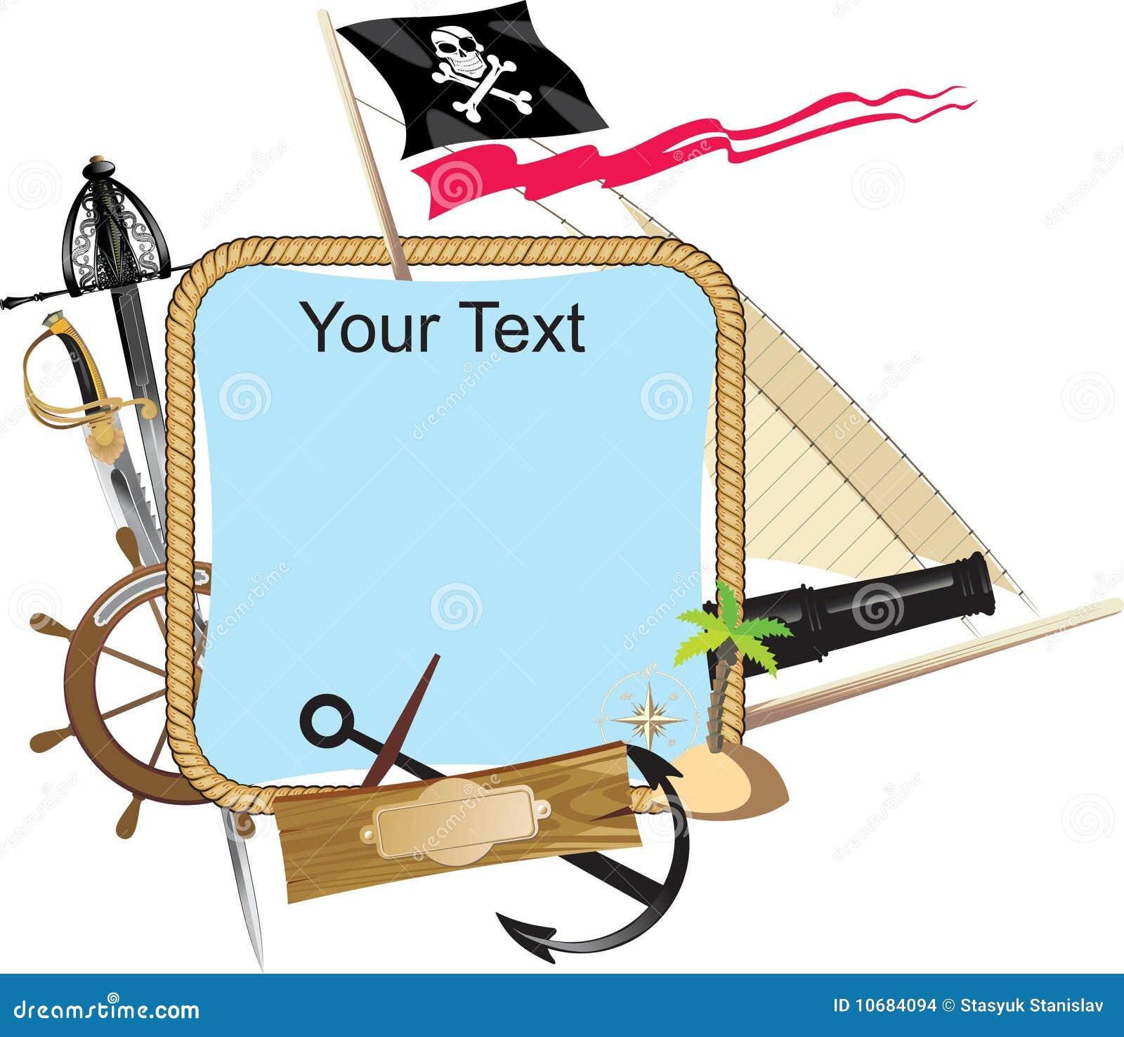 Dekoracyjny ramowy pirat