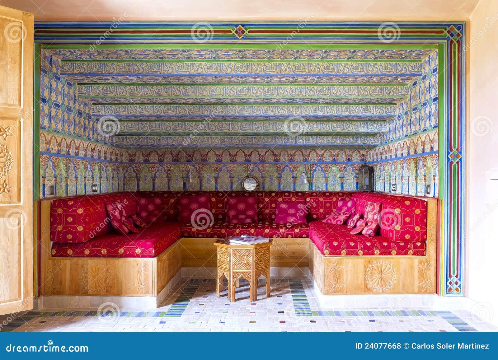 Dekoration Der Arabischen Art Des Salons, Stockfoto - Bild von ...