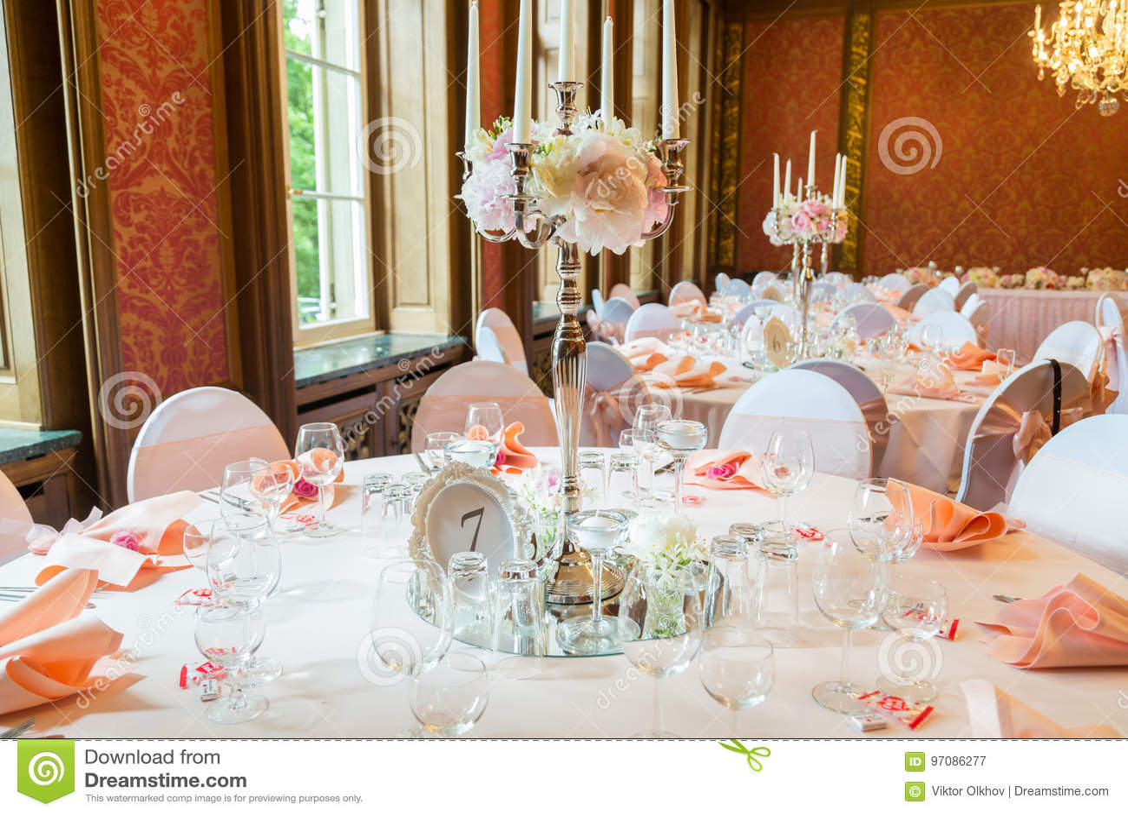 Dekoration Der Tabelle In Einer Rosa Art Hochzeitsdekorationen In