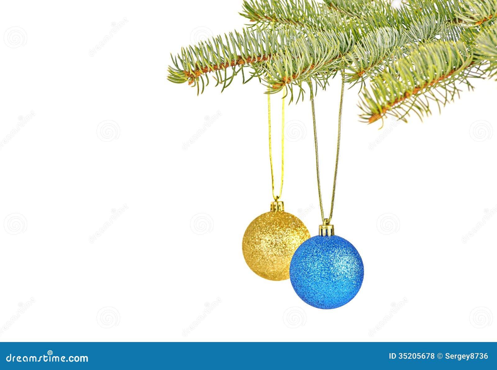 Dekoration di natale con le palle rosse e gialle su bianco for Antifurto con le palle