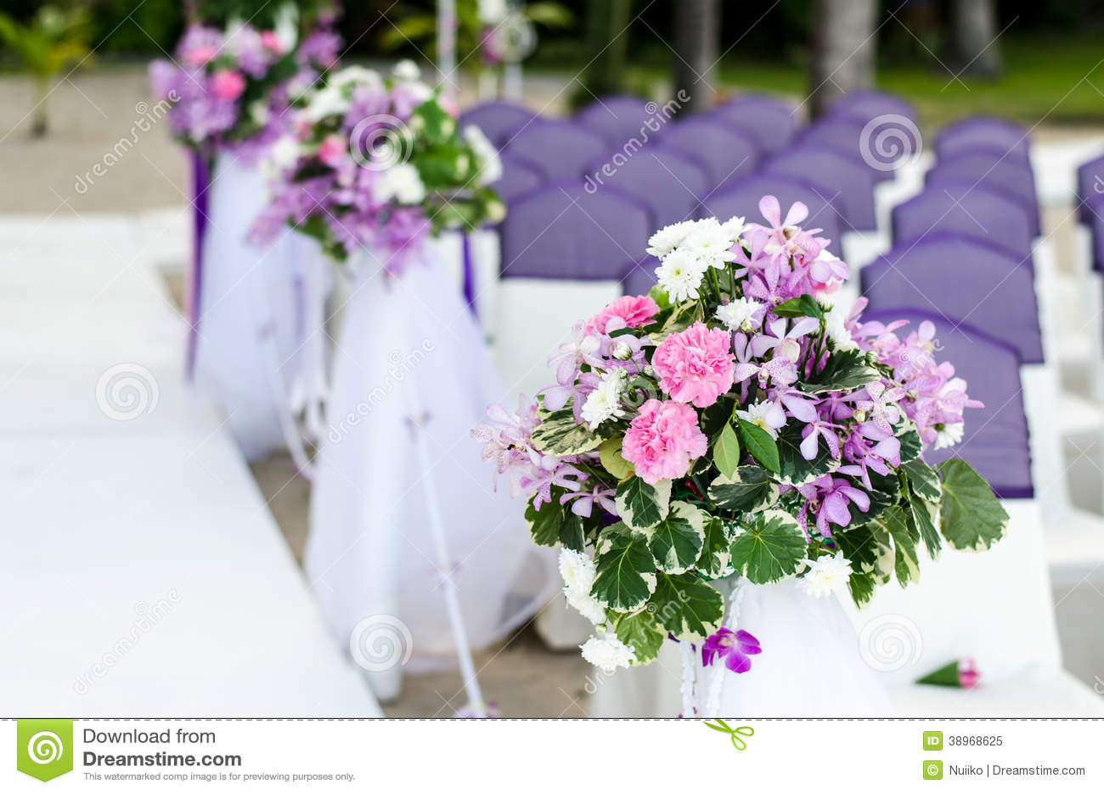 Dekoration Von Hochzeitsblumen Stockbild Bild Von Valentines