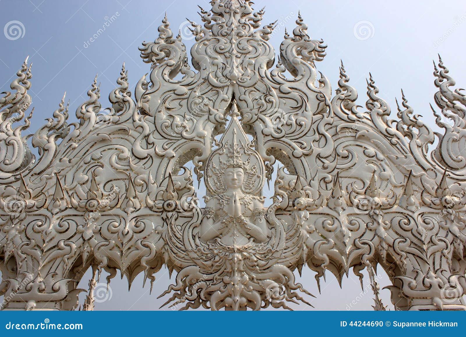 Dekoration An Wat Rong Khun Oder Am Weißen Tempel, Ein ...