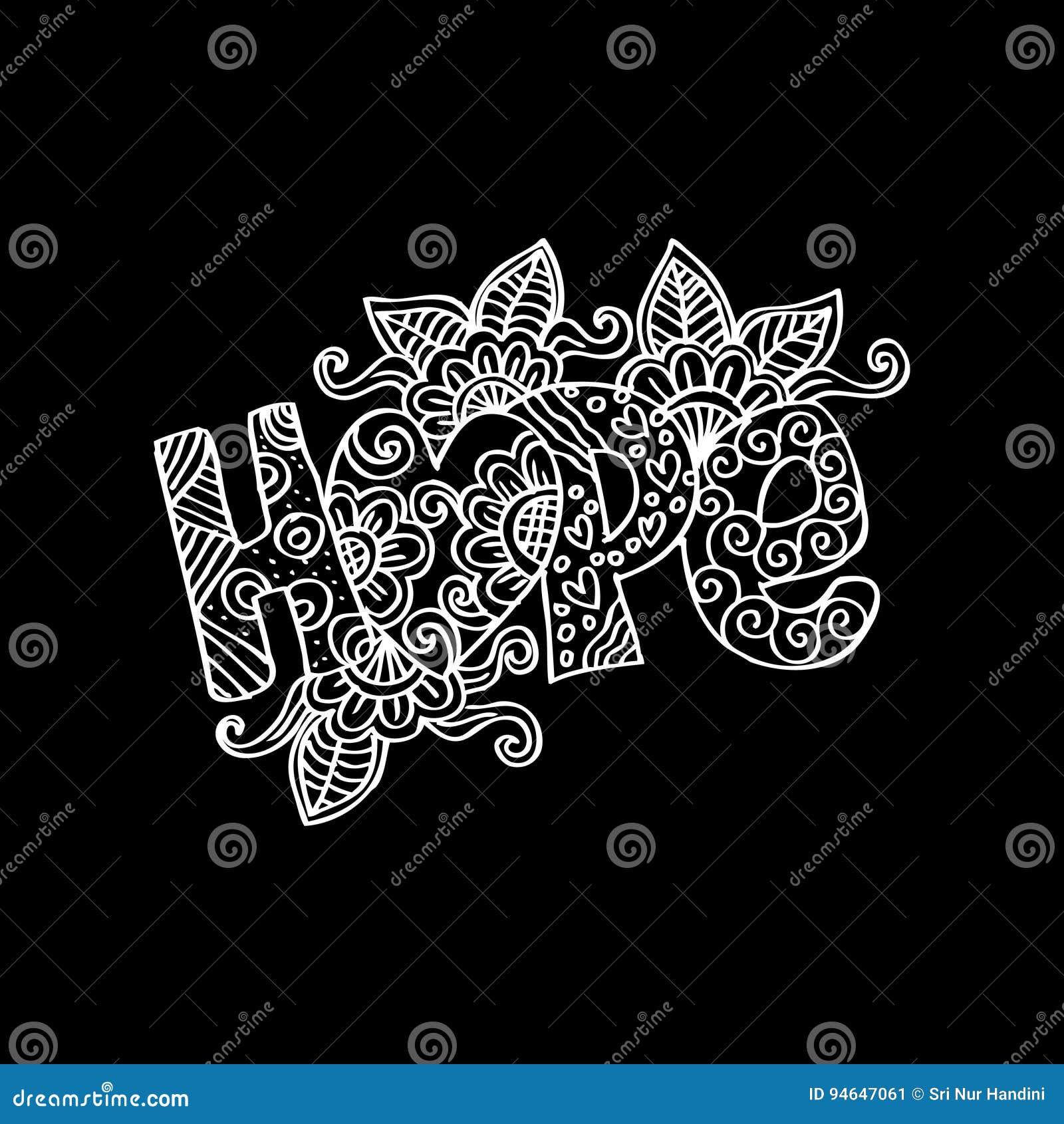 Dekorativ bokstäver för hopp