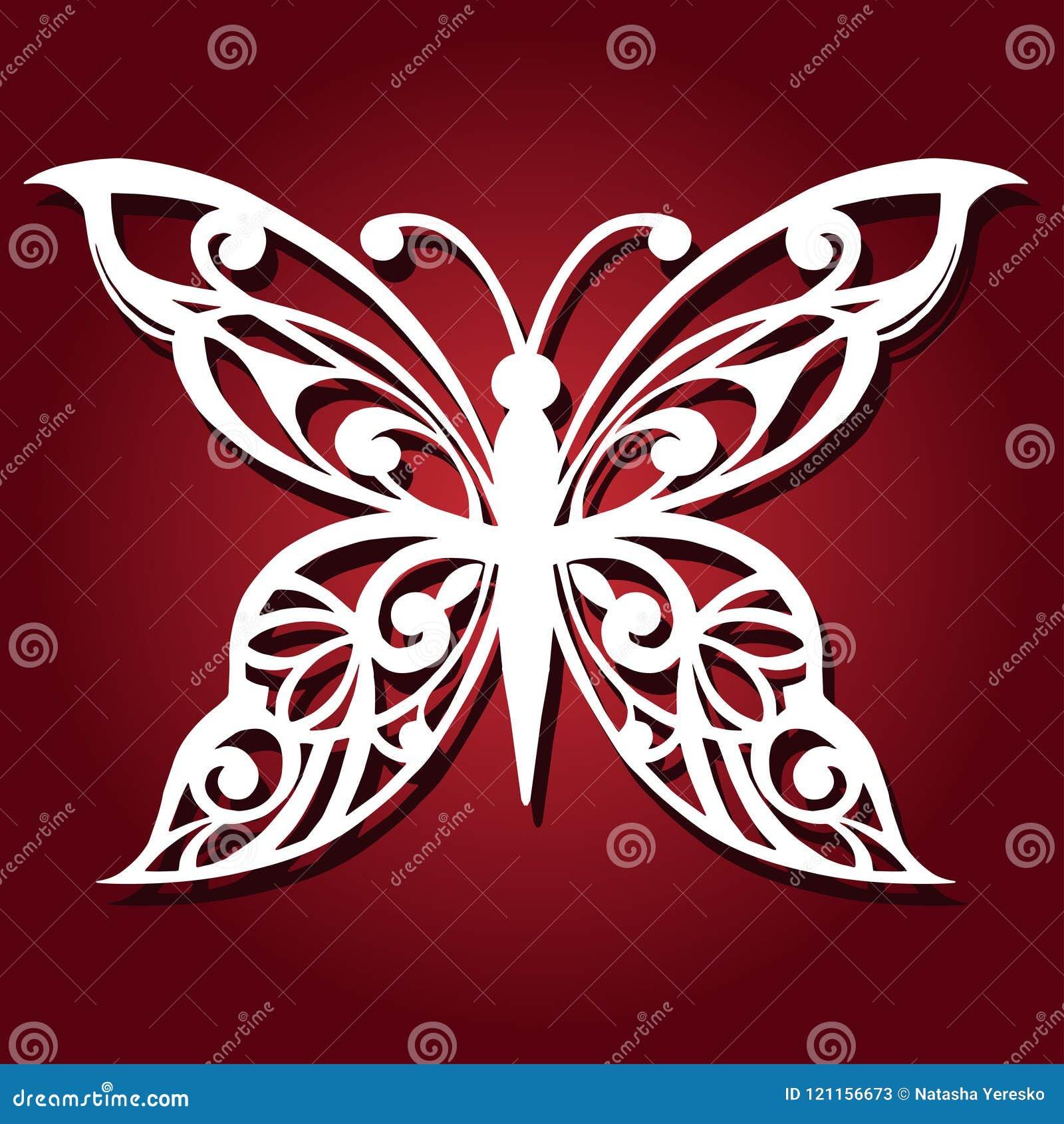 Dekorativ fjäril för laser-klipp