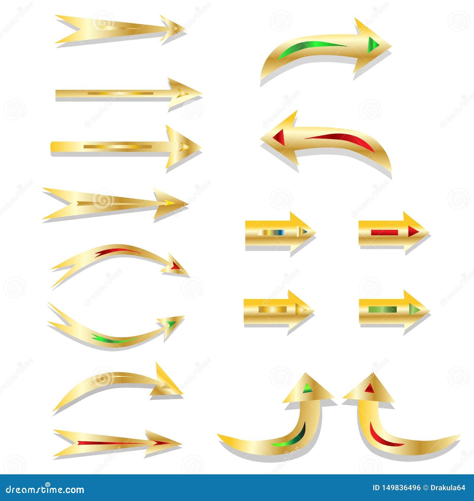 Dekorativ-guld-pil-pekare