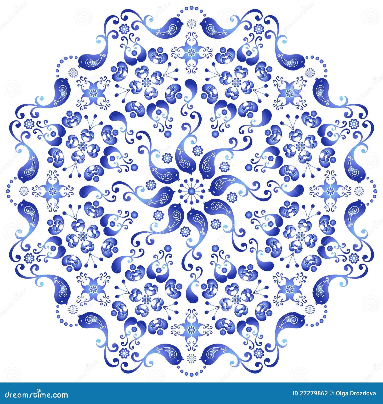 Dekorativ gzhelplatta