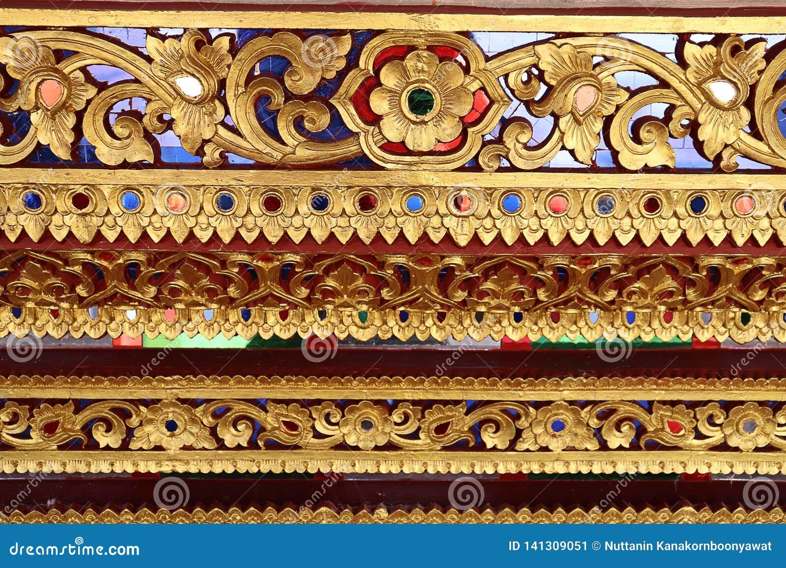 Dekorativ modell för thailändsk konst