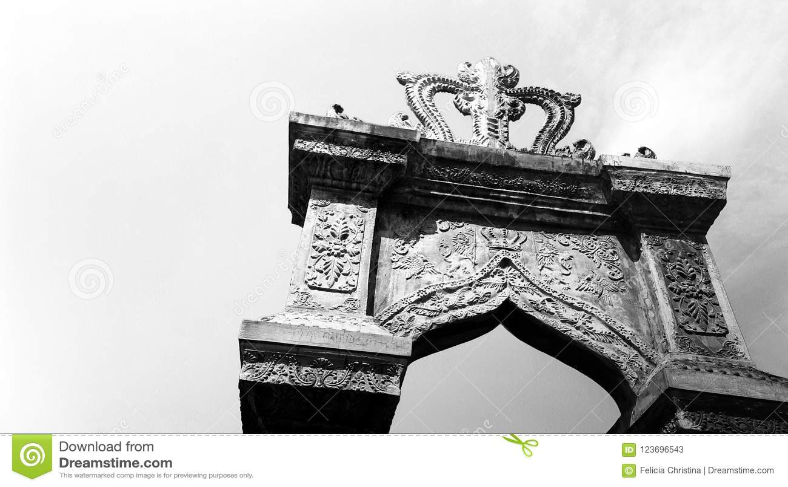 Dekorativ nyckel på den Taman Ujung vattenslotten, Bali