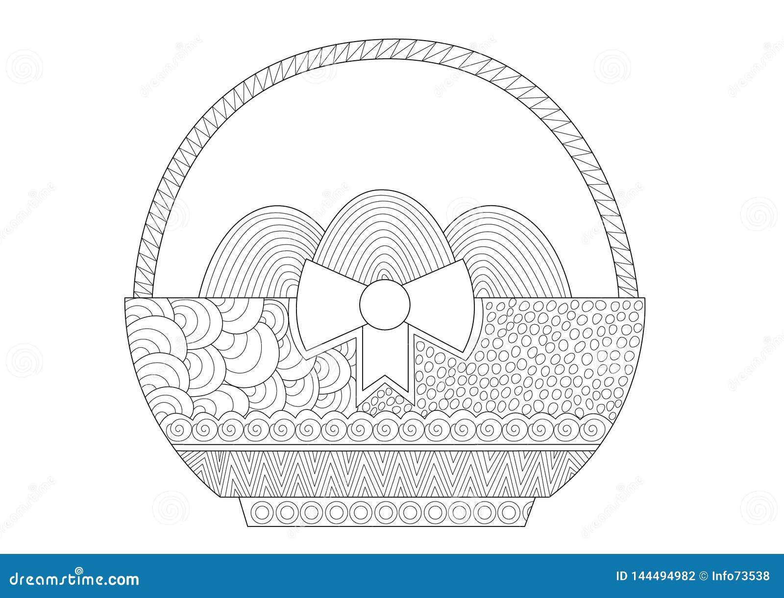 Dekorativ påskkorg med ägg för vuxna människor
