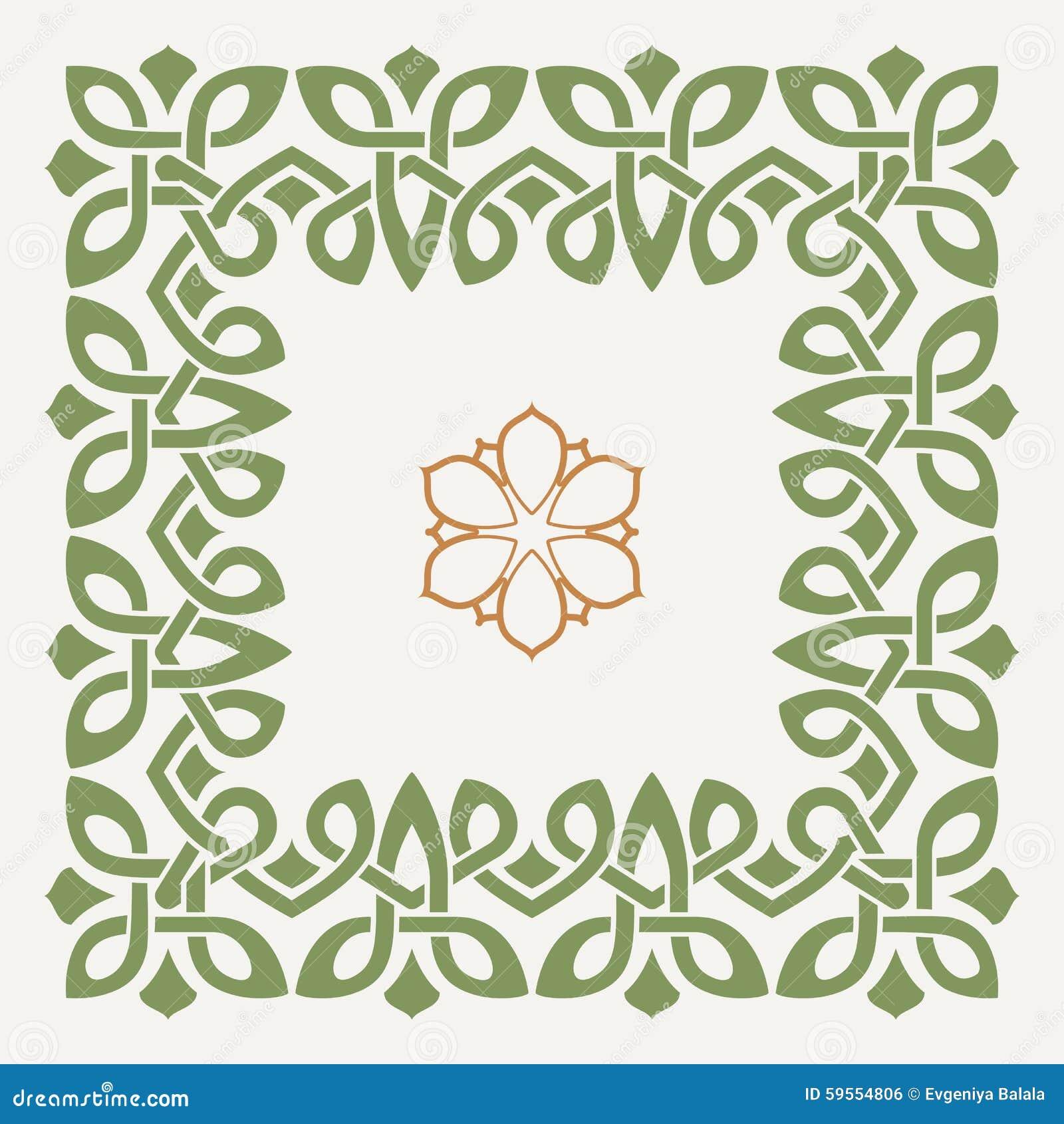 Dekorativ ram för vektor i den keltiska stilen