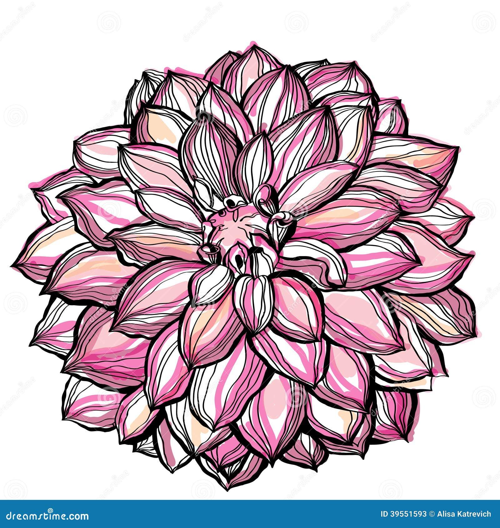 Dekorativ vattenfärgbakgrund för blomma