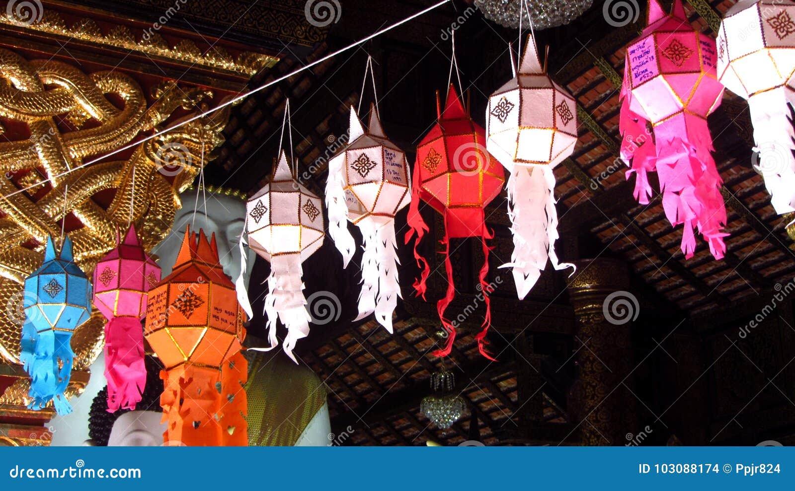Dekorativa lyktor för lyktafestivalen