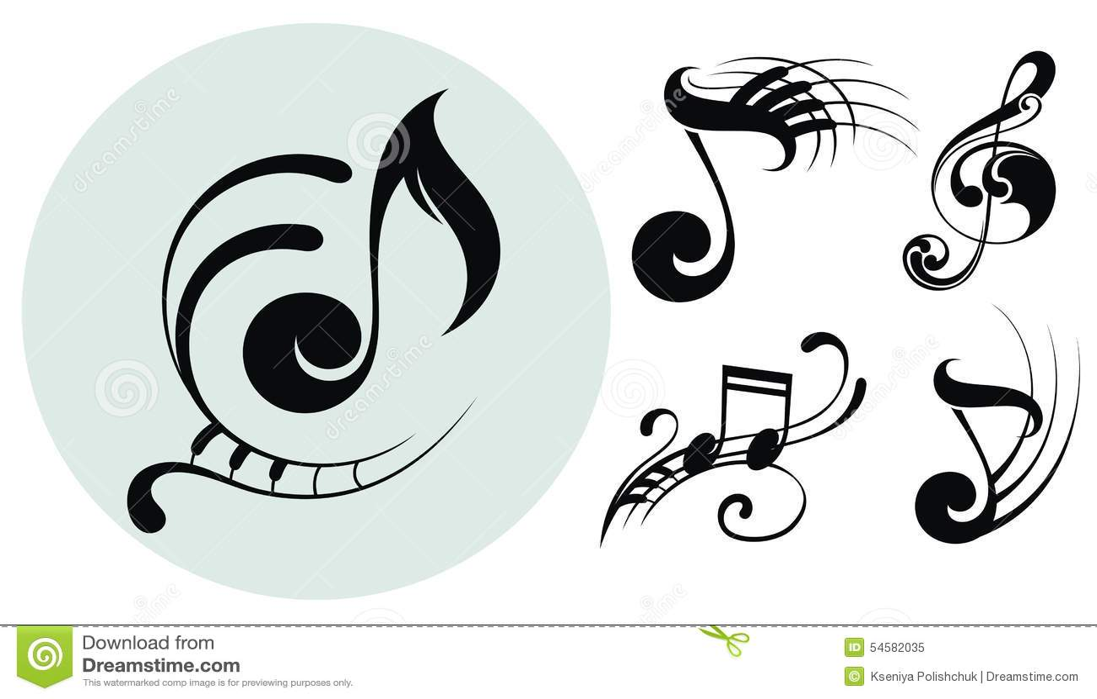 Dekorativa musikanmärkningar