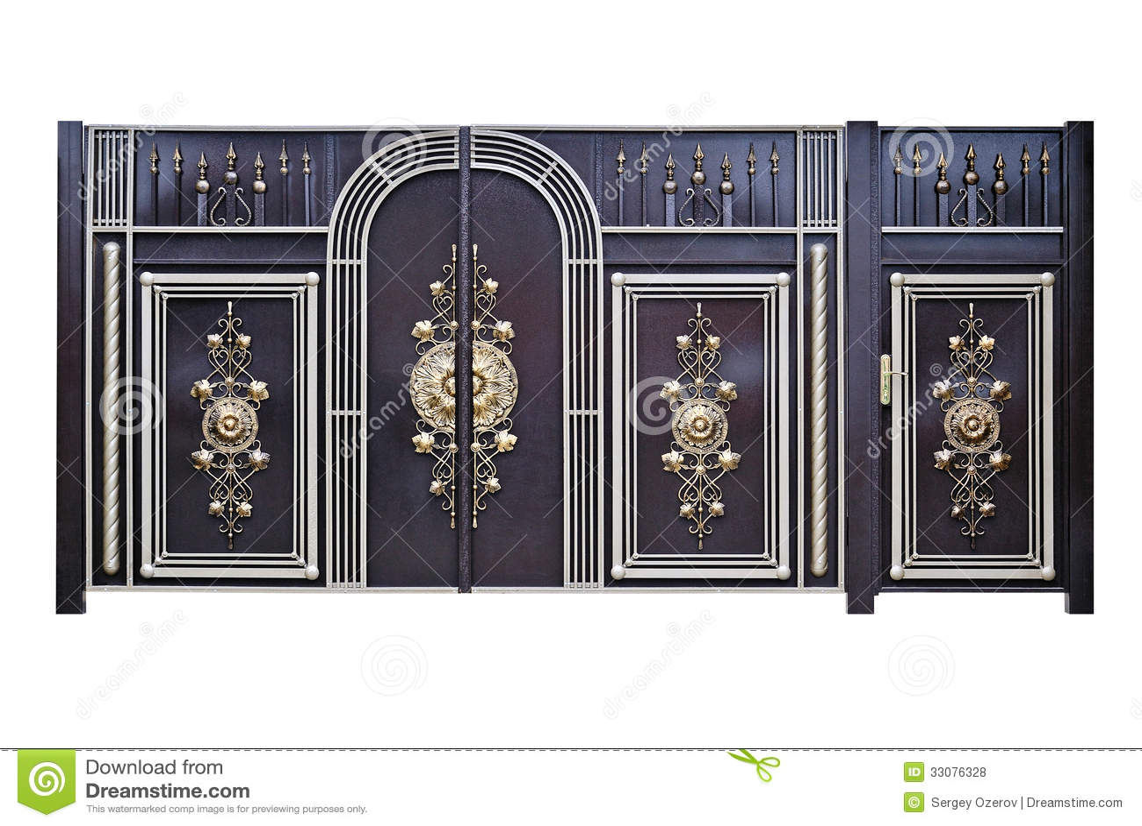 Dekorativa portar och dörrar.