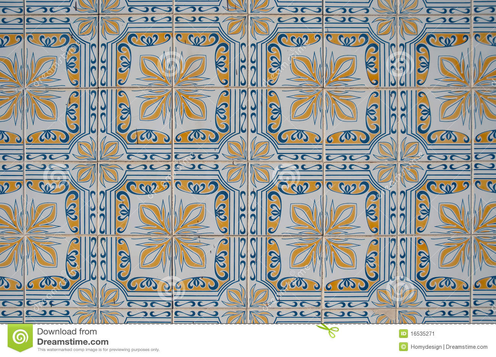 Dekorative Alte Fliesen Stockbild - Bild: 16535271