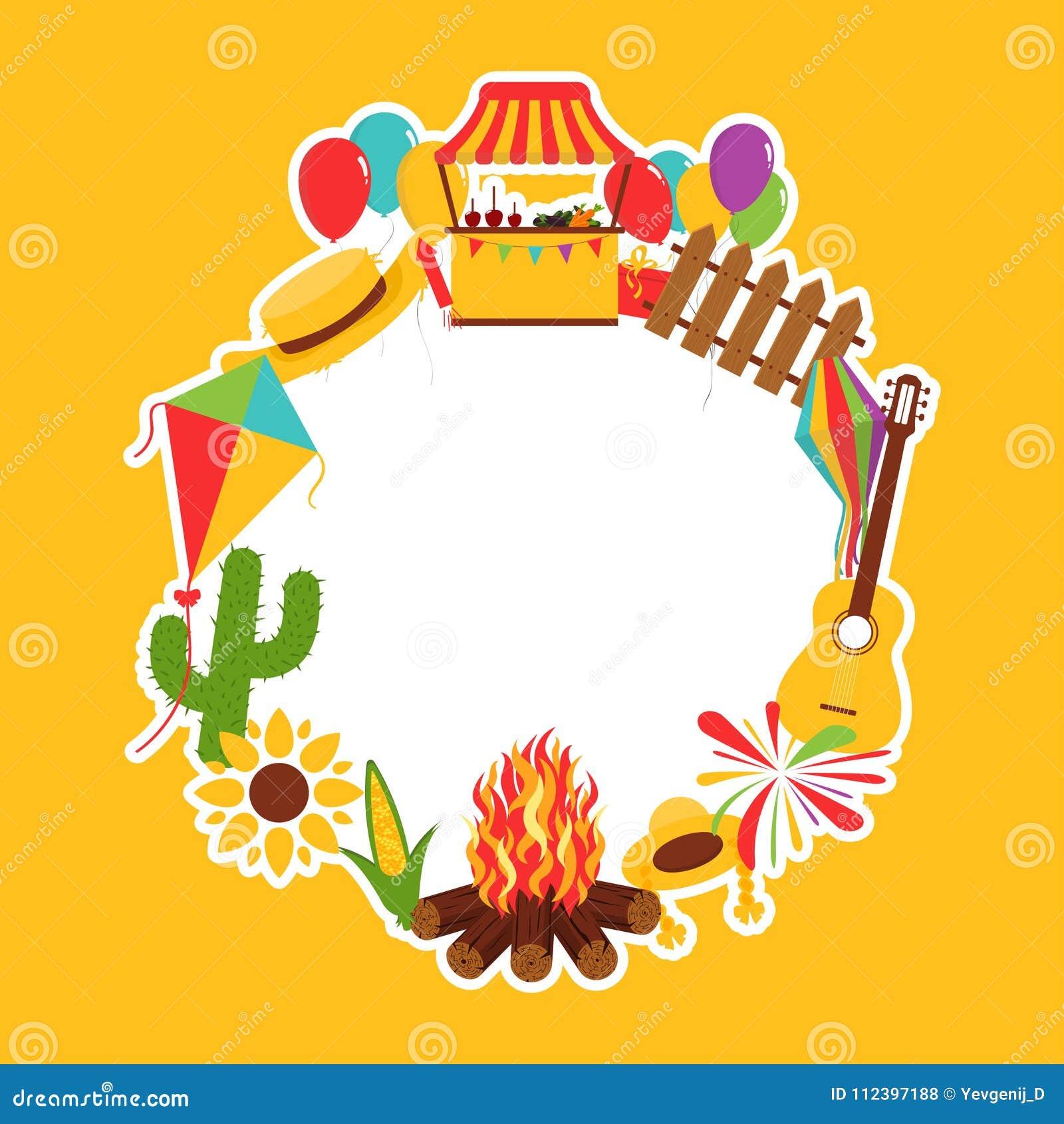 Dekorative Elemente Festivals Festa Junina Karnevalsflaggen
