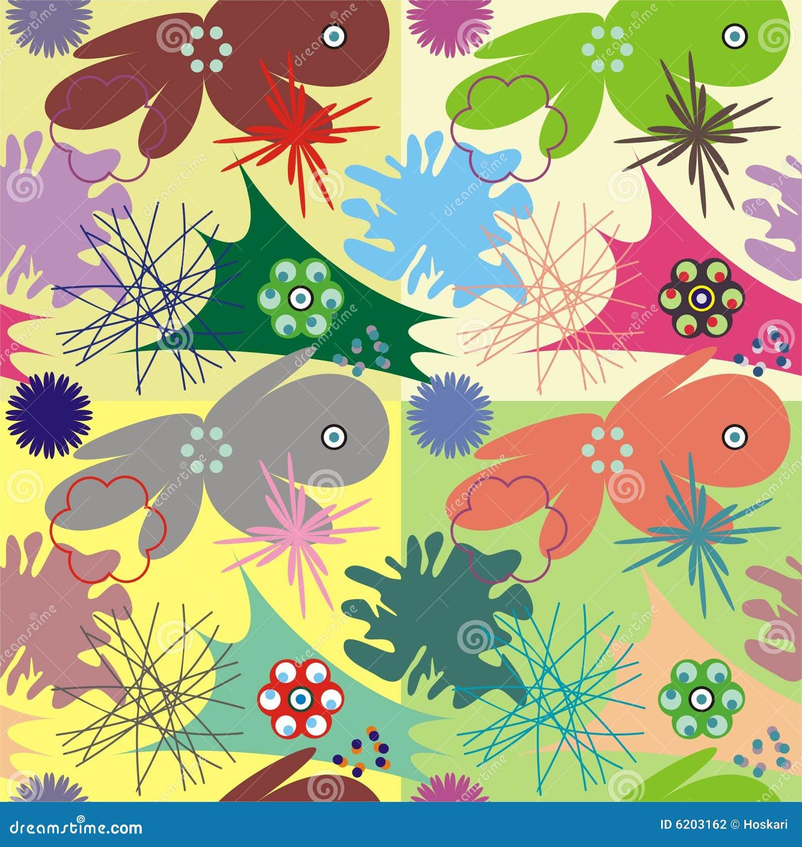 Dekorative Fliese mit Mikroorganismus