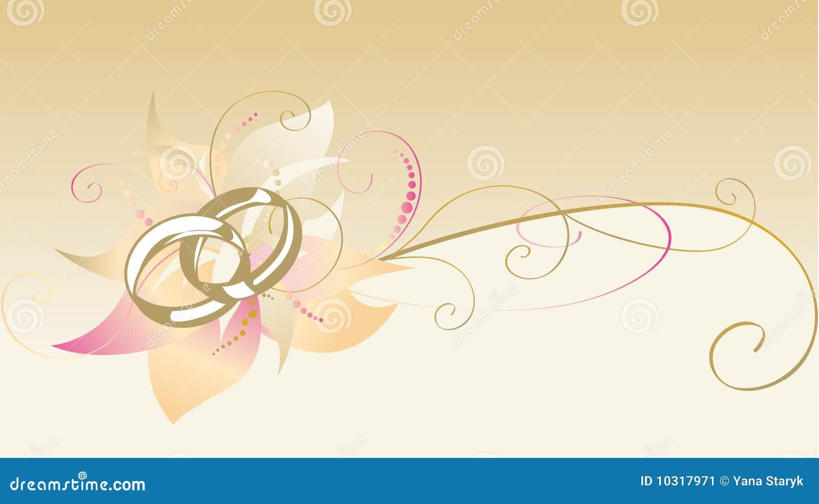 Dekorative Karte Mit Hochzeitsringen Vektor Abbildung Illustration