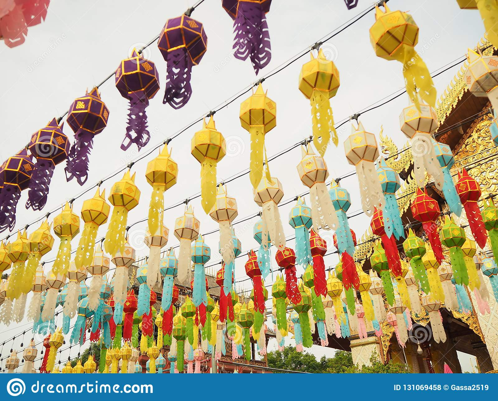 Dekorative Lampentradition Yi Peng City, Lamphun