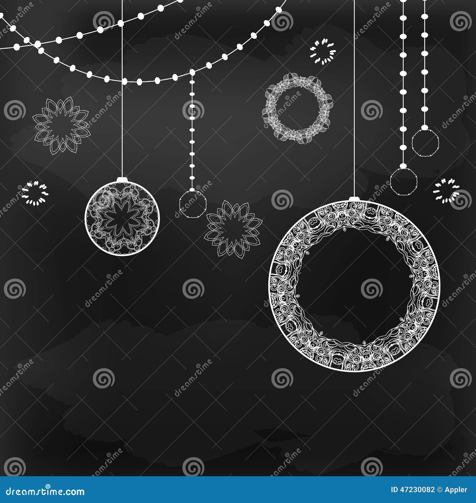 dekorative tafel der kreidezeichnung vektor abbildung bild 47230082. Black Bedroom Furniture Sets. Home Design Ideas