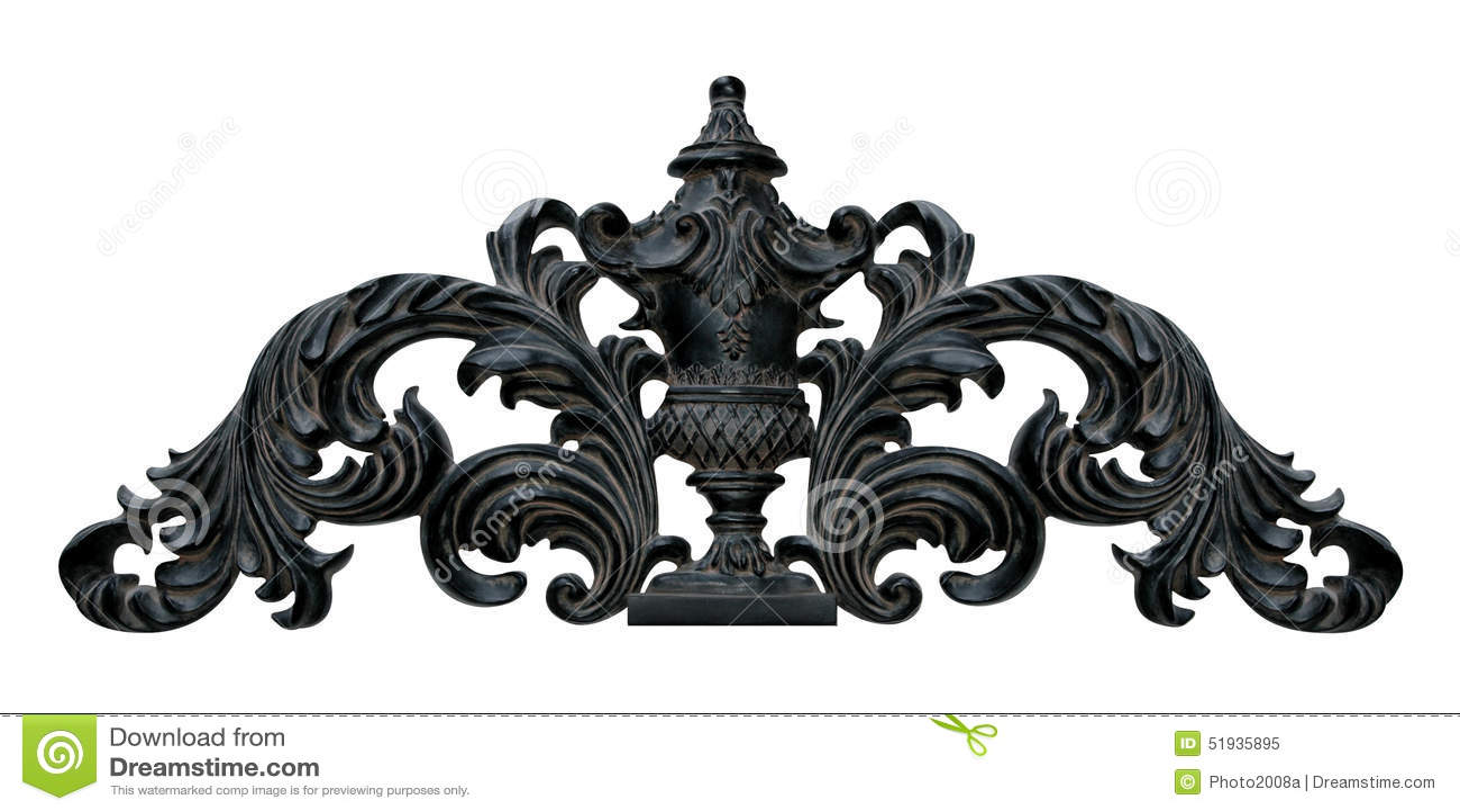 Dekorative Wand Kronen Dekoration Stockbild Bild Von Dekor Wand 51935895