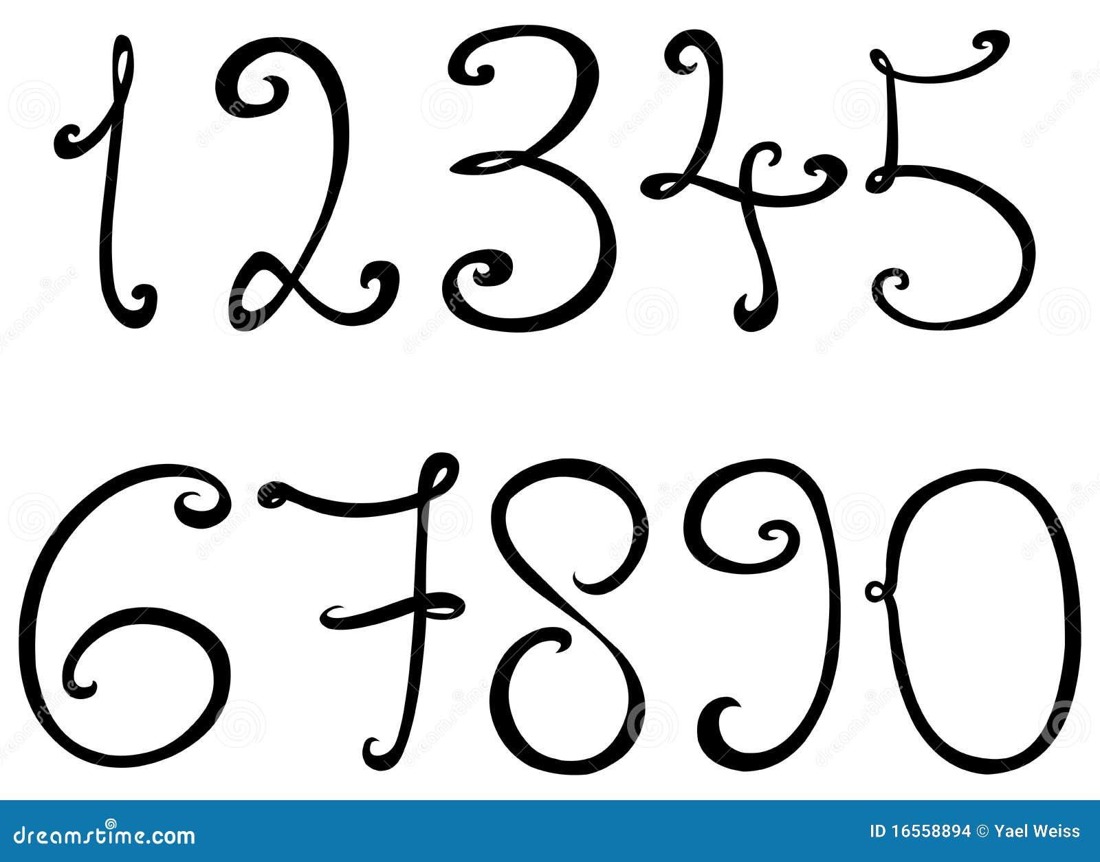 dekorative zahlen vektor abbildung bild von digits vier 16558894. Black Bedroom Furniture Sets. Home Design Ideas