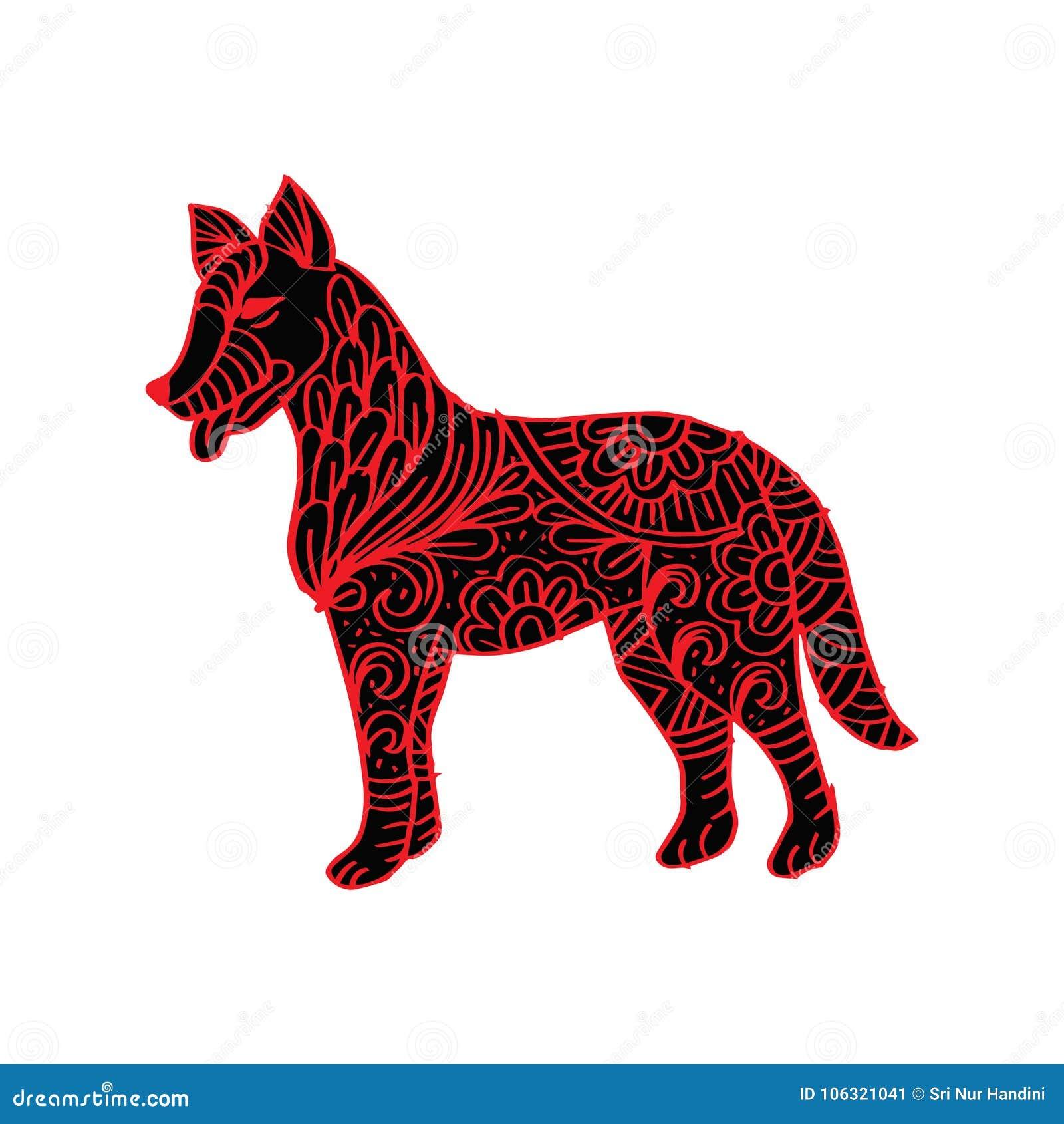 Dekorativer Hund