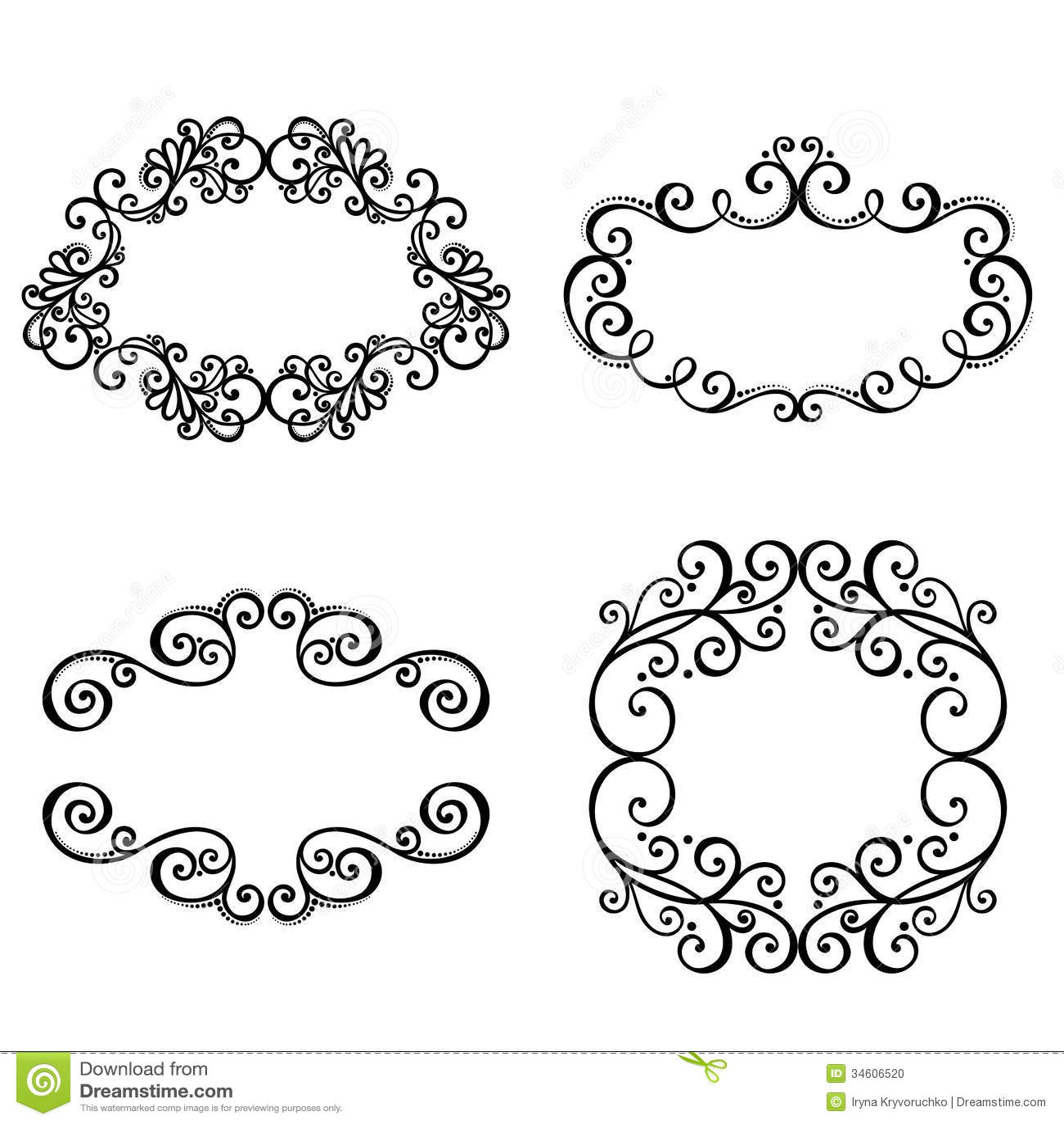 Dekorativer Ornamentrahmen Für Text. Vektor Abbildung - Illustration ...