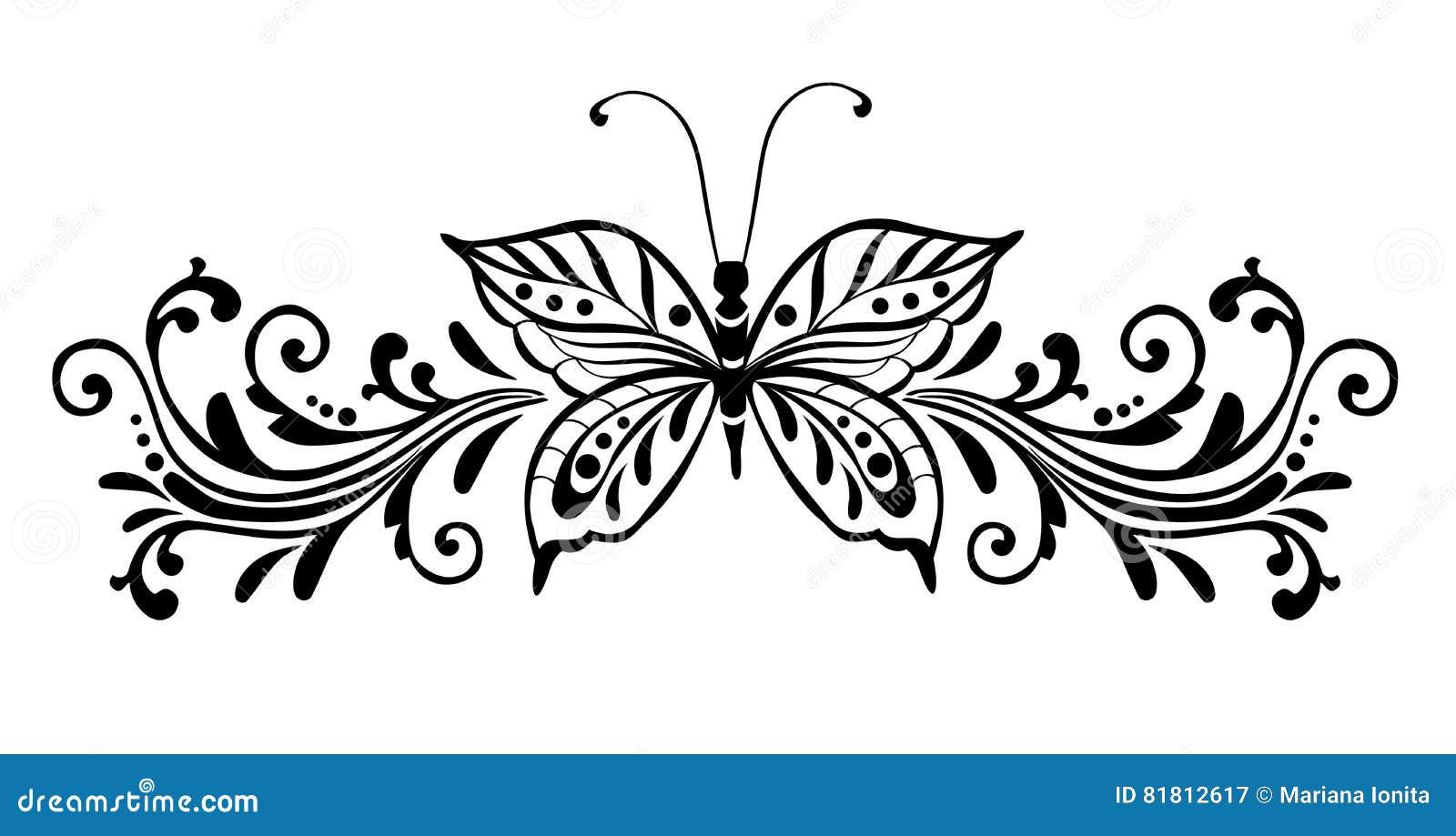 Dekorativer Schmetterling