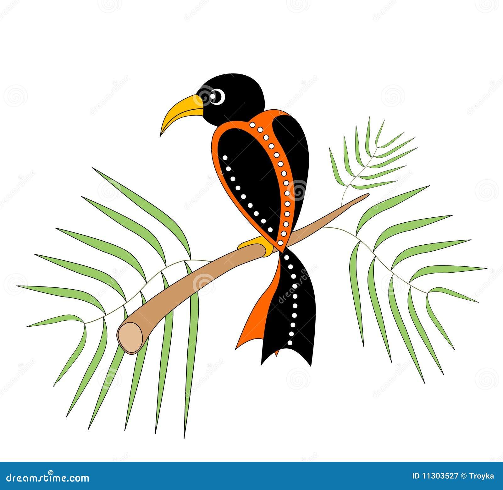 Dekorativer Vogel.