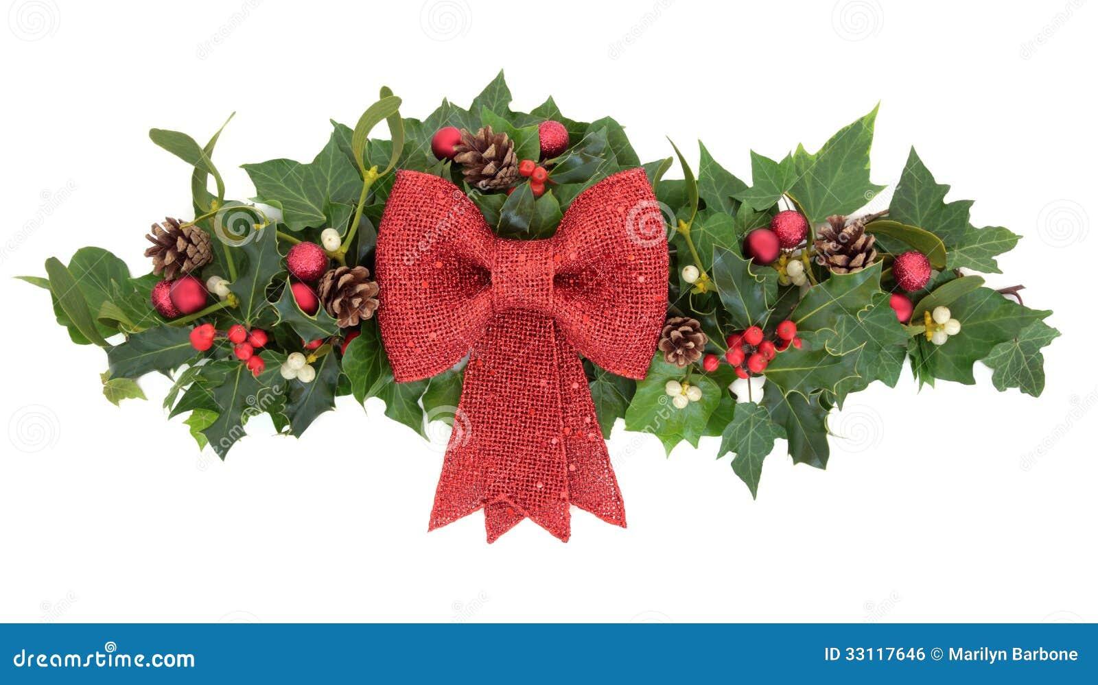Dekorativer Weihnachtsspray Stockfoto - Bild von weiß, hintergrund ...