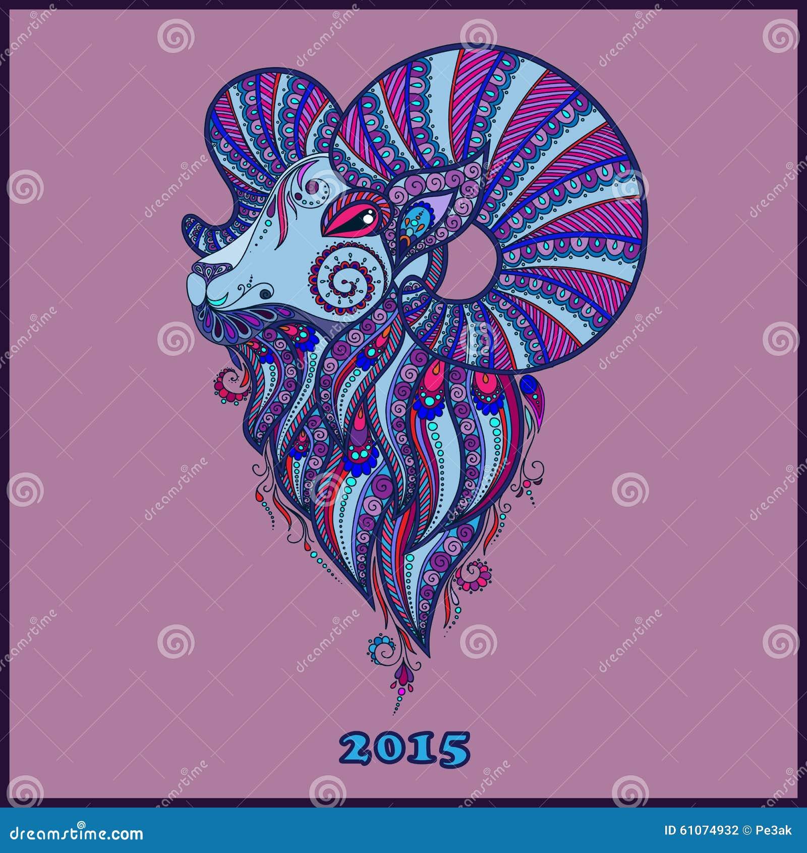 Dekoratives Dekoratives Symbol Des Neuen Jahres/der Schafe/der Ziege ...