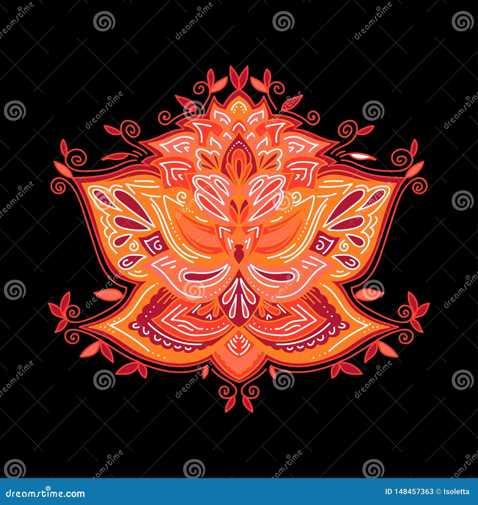 Dekoratives dekoratives Gestaltungselement der Zusammenfassung für Yogamatte, Abdeckung, Aufkleber, druckt Blumenmusterelement In