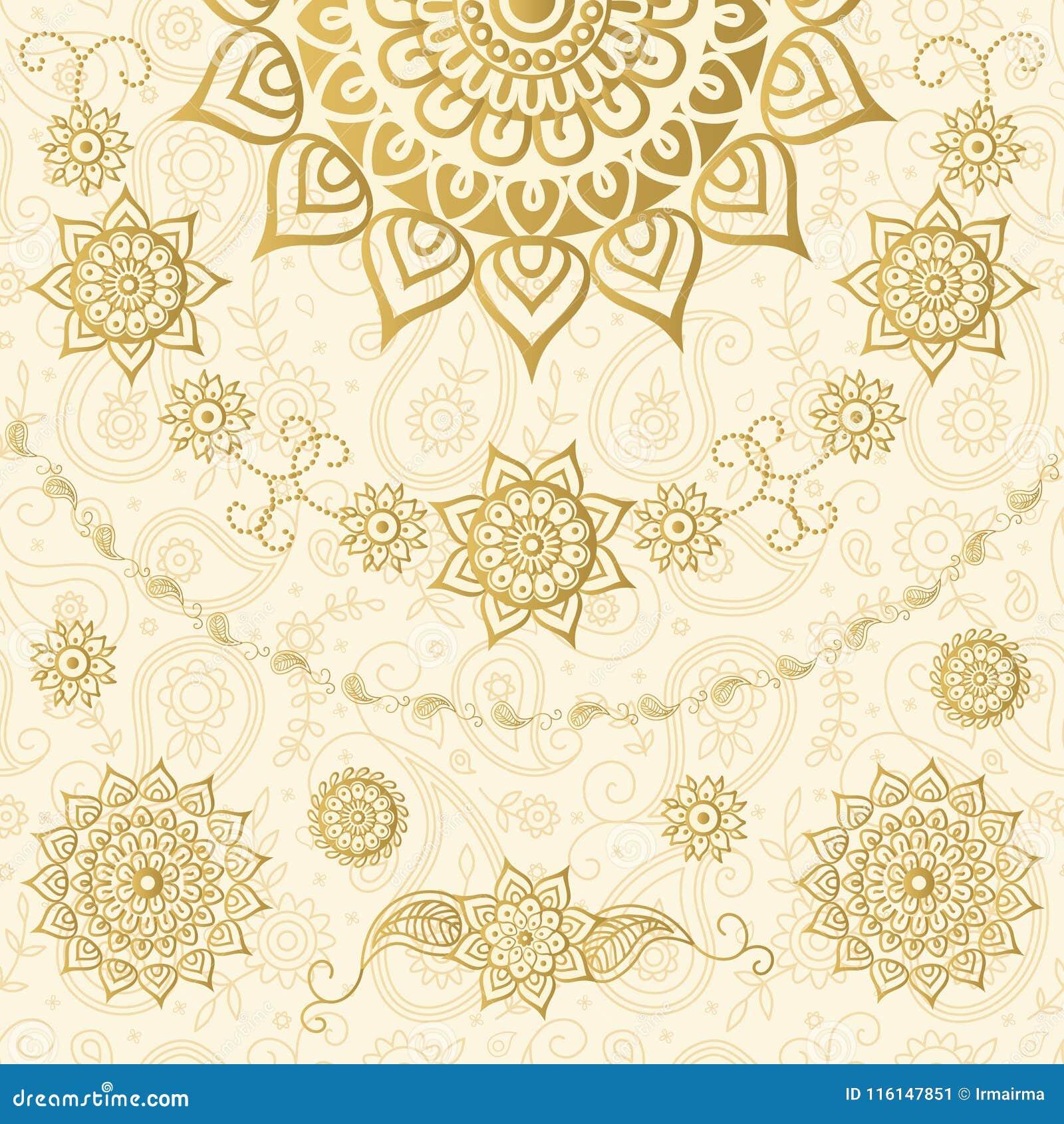 Dekoratives Muster in der indischen Art
