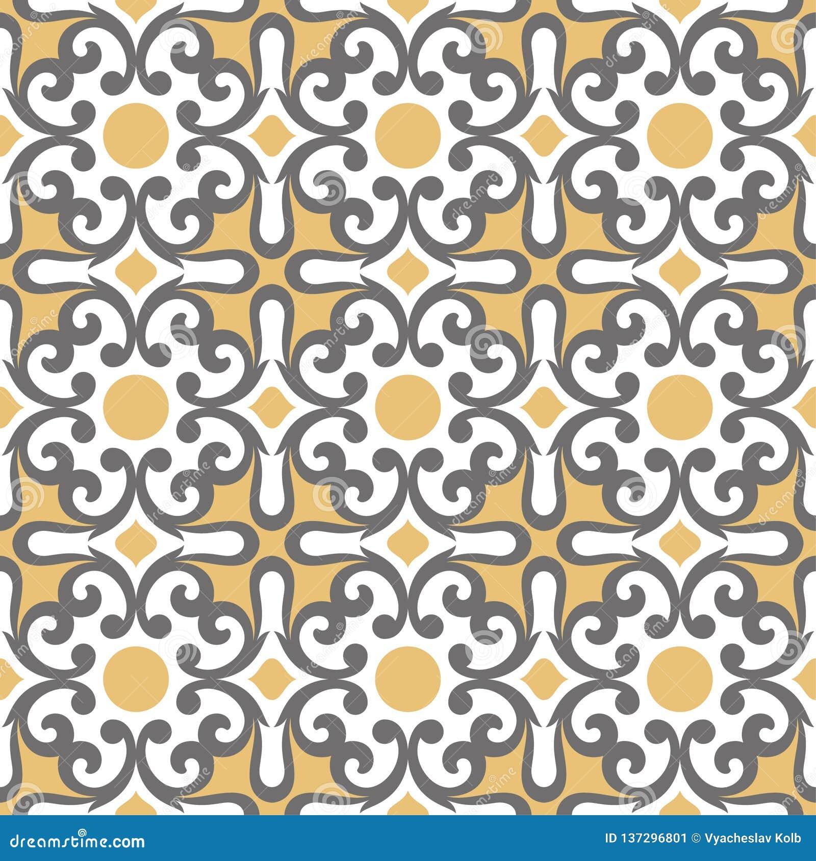 Dekoratives Muster für den Hintergrund, die Fliese und die Gewebe