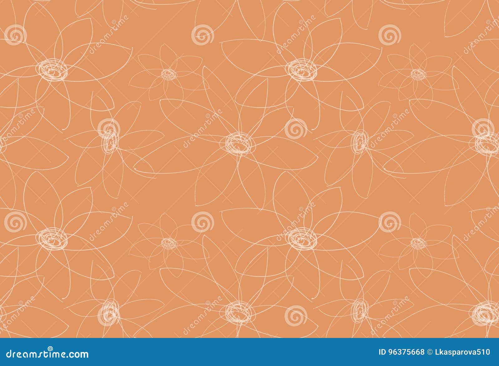 Dekoratives orange mit Blumenmuster