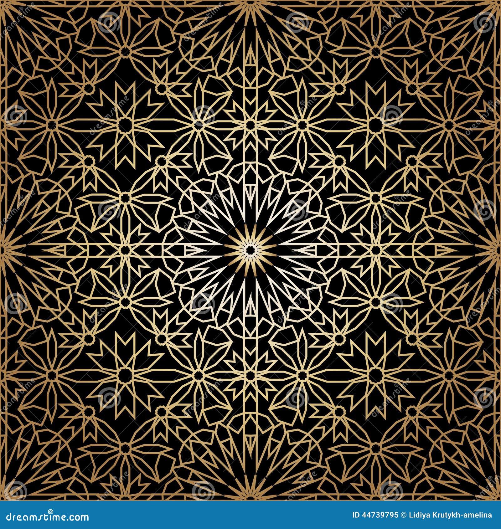dekoratives rundes nahtloses muster marokkos vektor abbildung illustration von motiv. Black Bedroom Furniture Sets. Home Design Ideas