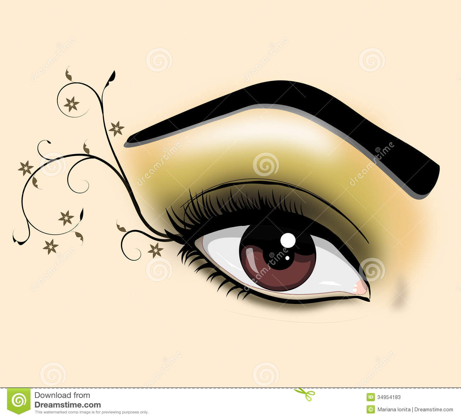 Dekorativt öga