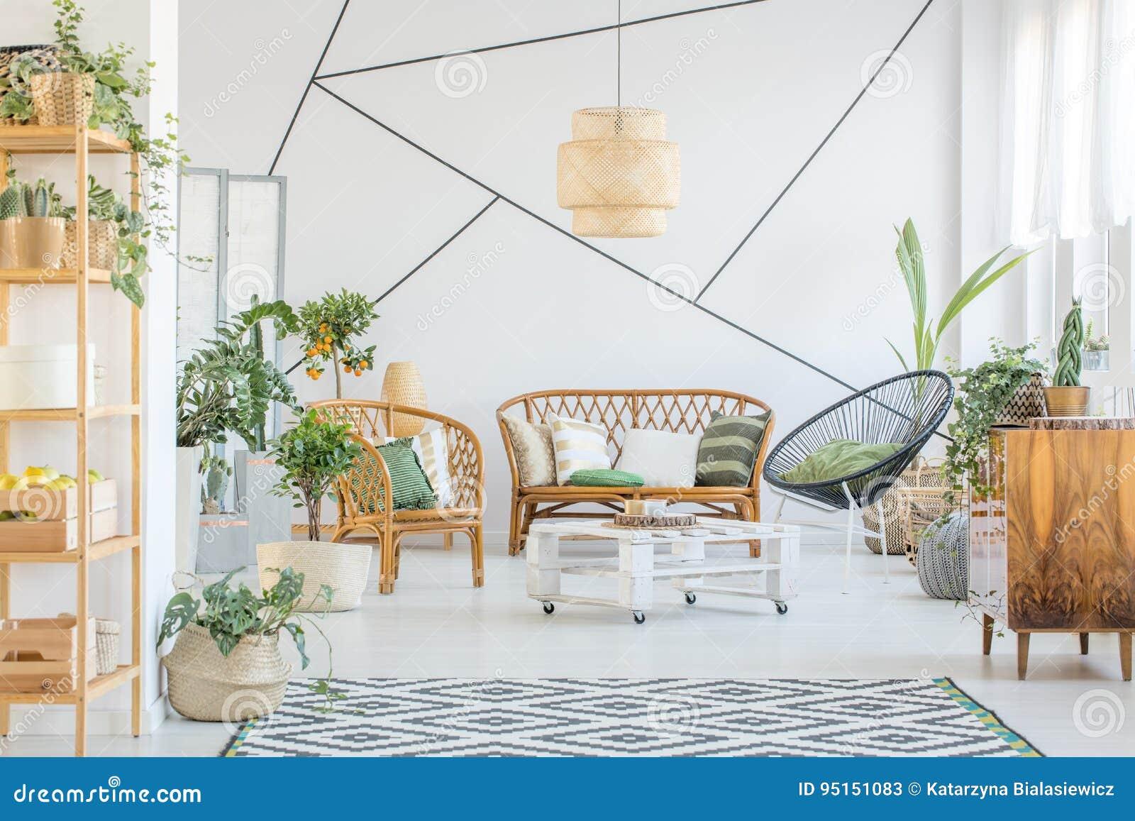Dekorativt band i vardagsrum