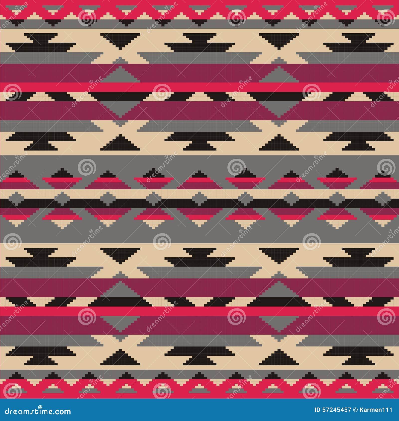 Dekorativt mönstra för att sticka och broderi Indianer Navajo, stam- etniskt tyg