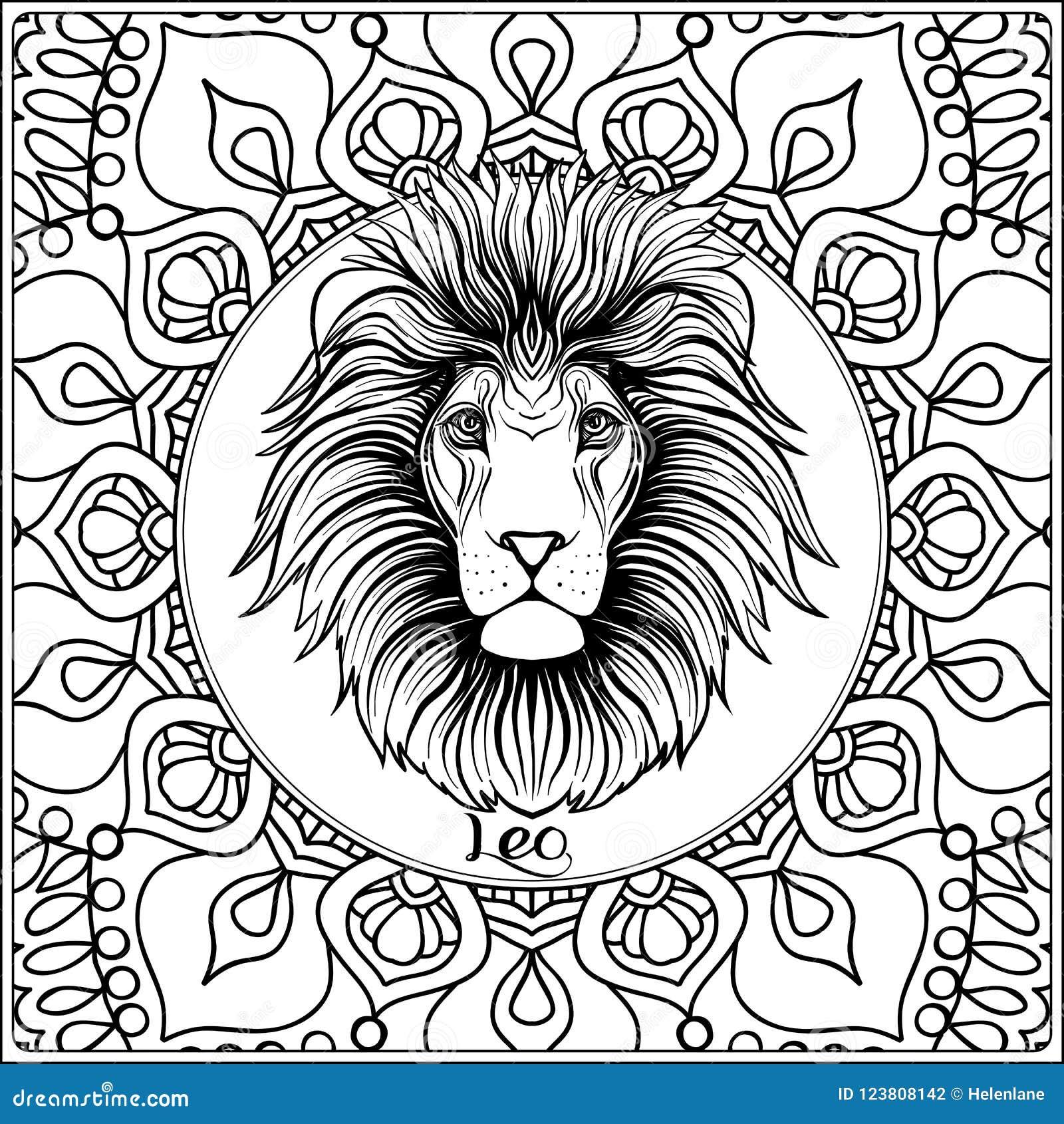 Dekorativt zodiaktecken på modellbakgrund