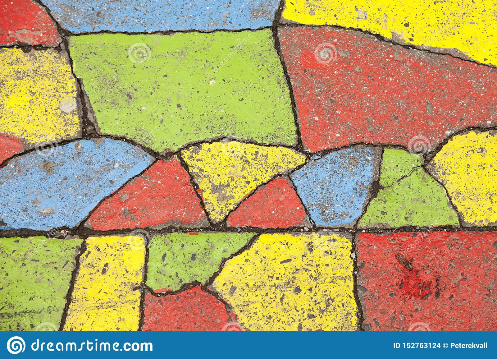 Dekorujący asfalt w różnych kolorach